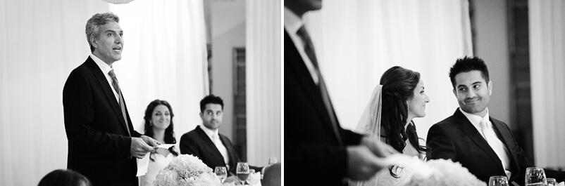 Brudens far håller sitt tal. Storstugan på Tjolöholms slott.